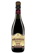 Игристое вино Mirabello Rosso Мирабелло Россо, Ламбруско 0,75 л