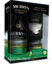 Ликер Merrys Irish Cream + 2 бокала 0,7л