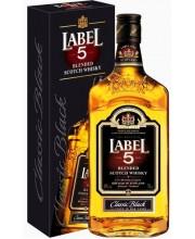 Виски Label Лэйбл 5 в коробке 1л