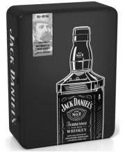 Виски Jack Daniel's в металлической коробке с 2-мя бокалами 0,7л