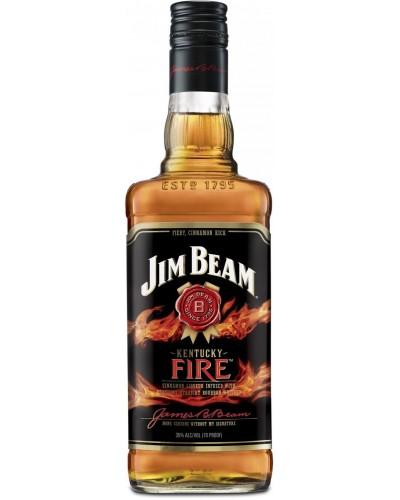Виски Jim Beam Kentucky Fire Джим Бим Корица 1л