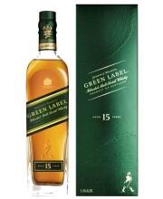 Виски Johnnie Walker Green Label 15 YO в коробке 0,7л