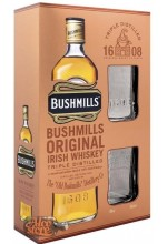 Виски Bushmills Бушмиллс 6 лет в коробке 1л + 2 стакана