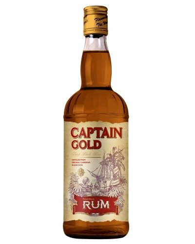 Ром Captain Gold 37,5%, 0,7л