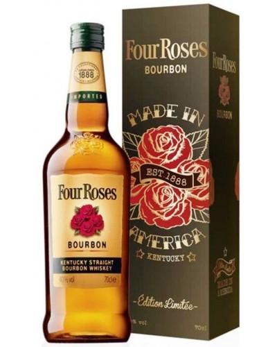 Виски Four Roses Metalbox 4 Розы в подарочной коробке 1л