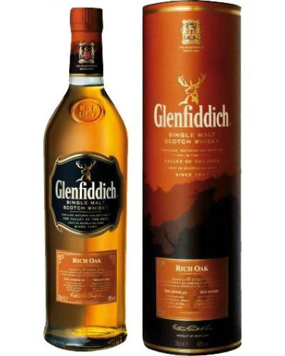 Виски Glenfiddich 14 Years Old Rich Oak Гленфиддик 14 лет Богатый Дуб 1л