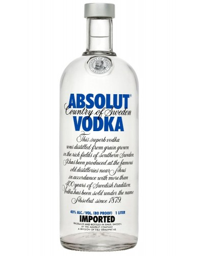 Водка Absolut Vodka Абсолют 1л