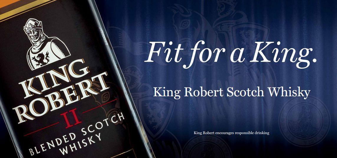 Купить бутылку хорошего виски King Robert II